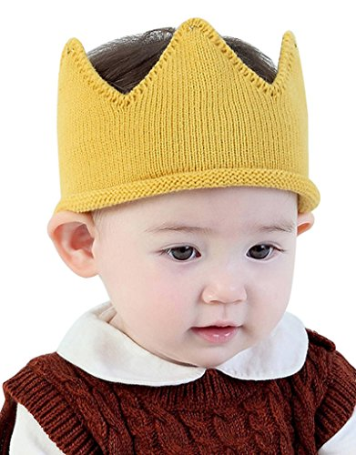 Hats Caps Baby Boy Girl Crown Hat Birthday Toddler Knit Crochet Warm Beanie Cap Offers