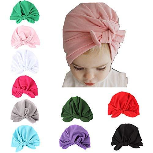 2a614edf16216 Hats & Caps – Gzhyuwaye 10 Pcs Baby Girl Hats Soft Cute Turbans ...