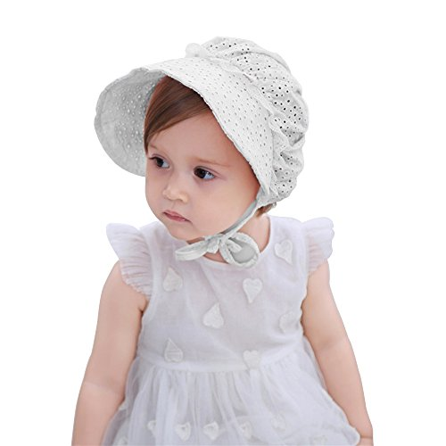 Accessories 2019 Fashion Solid Color Lace Hollow Baby Girl With Bow Toddler Kids Beach Bucket Hats Cap Summer Cute Princess Baby Hat Fit For 3-18 Months Comfortable Feel Boys' Baby Clothing