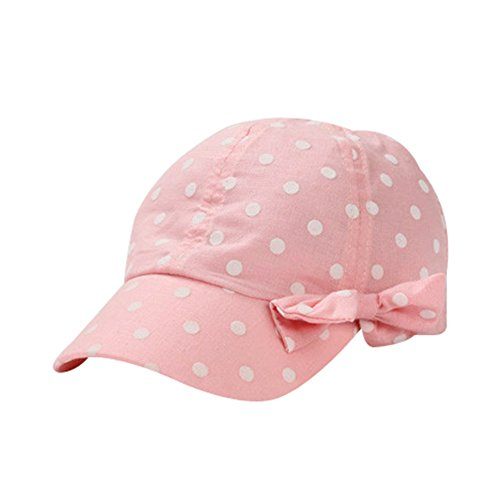 3a809093 Hats & Caps – Toddler Sun Hat Girls Summer Hat Cap UV Protection  Dot&Bowknot Beach Hat Baseball Caps UPF 50+ (S, Pink) Offers