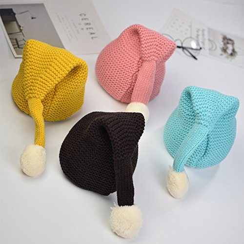 134f24f3c4057 Hats   Caps – A-MORE Baby Christmas Caps Knitting Handmade Boys Girls  Children Winter Hats Beanie Kids Hat (Yellow)