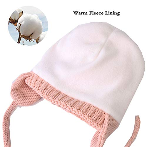 9b72e8fc9337a Hats   Caps – Baby Boys Girls Beanies Warm Knitted Earflap Hats Soft Baby  Caps Cute Cozy Chunky Winter Infant Toddler Hat (Pink