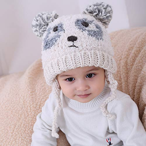 7d02045a7 Hats & Caps – Baby Earflap Winter Toddler Knitted Hat Bear Animal ...