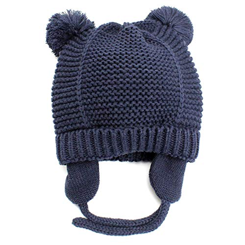 a353cb8d35c9b Hats   Caps – Baby Warm Beanie Hat with Earflaps-Infant Toddler Boys Girls  Cute Winter Hat Kids Knit Hat with Soft Fleece Lining-Navy M Offers