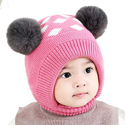 735232d0 Hats & Caps – Bonvince Baby Girls Boys Winter Warm Hat Beanies Caps Cute  Thick Earflap Hood Hat Scarves Skull Caps Hot Pink