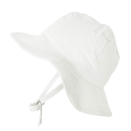 2332aa72f581bd Hats & Caps – Happy Tree Baby Sun Hat Wide Brim 100% Cotton Toddler Bucket  Hat Sun Protection Kids Breathable Sun Cap (Medium), White