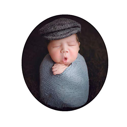 04fa2e0a5ae Hats   Caps – Newborn Baby Photo Props Hat Cap with Blanket Wrap Swaddle  Sets for Boys Girls Photography Shoot (Grey) Offers