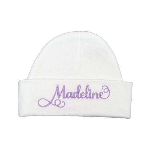 41a7c526a Hats & Caps – Personalized baby girl hat with elegant script font (0 ...