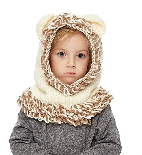c296dd41819 Hats   Caps – Sumolux Winter Kids Warm Fox Animal Hats Knitted Coif Hood  Scarf Beanies for Autumn Winter