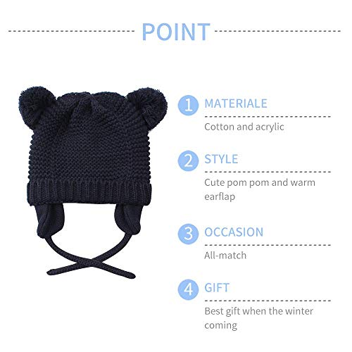 168a8694 Hats & Caps – Wander G Baby Beanie Infant Earflaps Hat Cute Bear Toddler  Boys Girls Soft Warm Knit Crochet Hat for Fall Winter (S/0-6 Months, Grey)  Offers