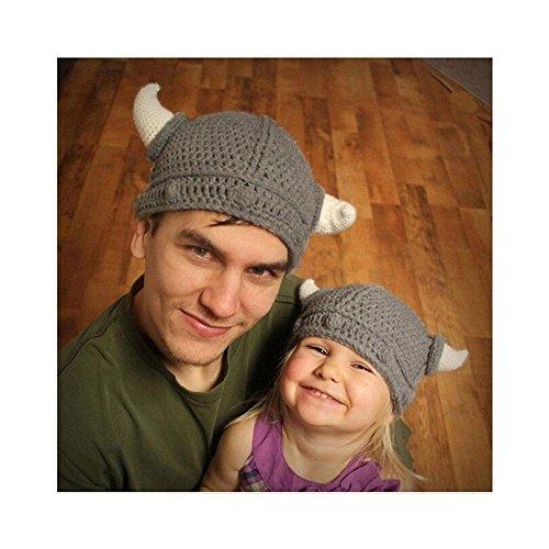 7dd8b909cf00d Hats & Caps – New Baby Kids Bonnet Newborn Handmade Crochet Hat Viking  Horns Knitted Hat Offers