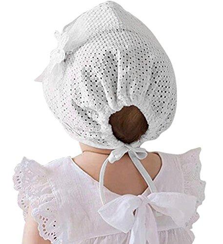 76f9a3d1d0bb2 Hats & Caps – Little Baby Children Vintage Sun Hat Summer Cotton Bonnet  with Flower Applique, White, 6-18 Months Offers
