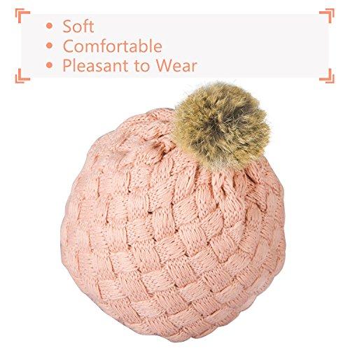 04d34ba8 Hats & Caps – Zodaca Winter Warm Comfort Soft Crochet Pom Pom Beanie Knit  Hat for Baby, Boys, Girls, Infant, Toddler, Pink
